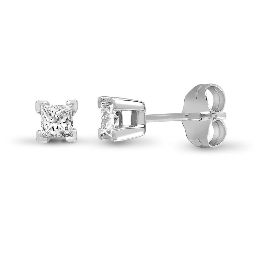 clarity stud gold white natural earrings cut princess diamond popular diamonds ctw products