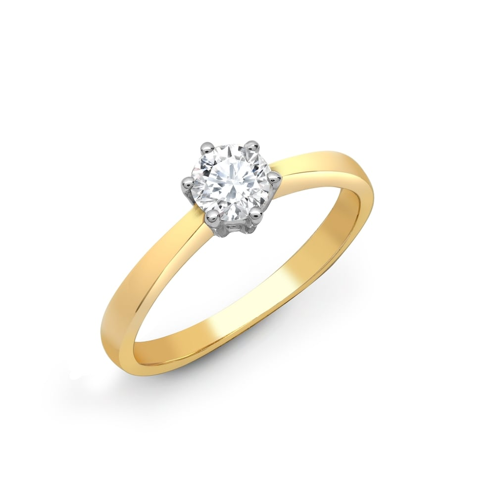 white round to kay carat en gold zoom zm cut kaystore ring diamond solitaire mv rings hover