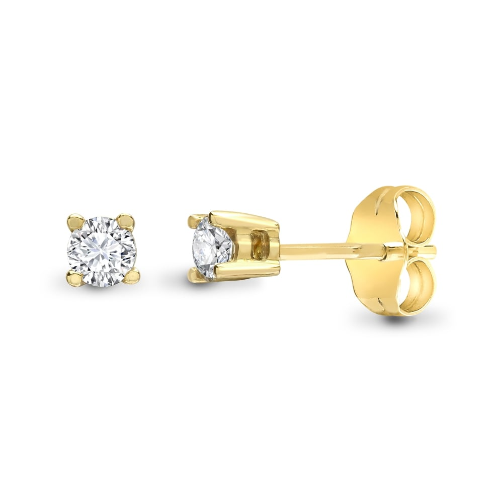 yellow image stud gold open star earrings
