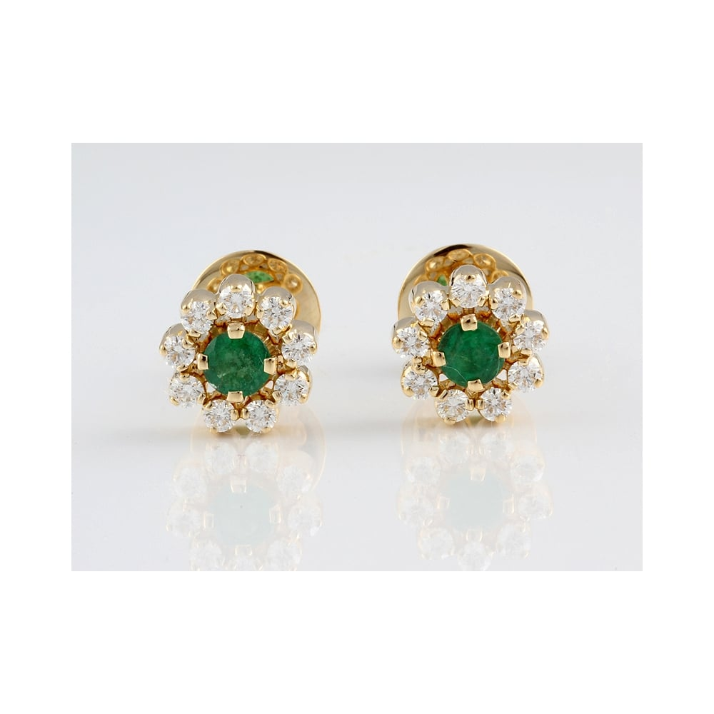 by large earrings gold lewis operandi green emerald gem loading moda renee