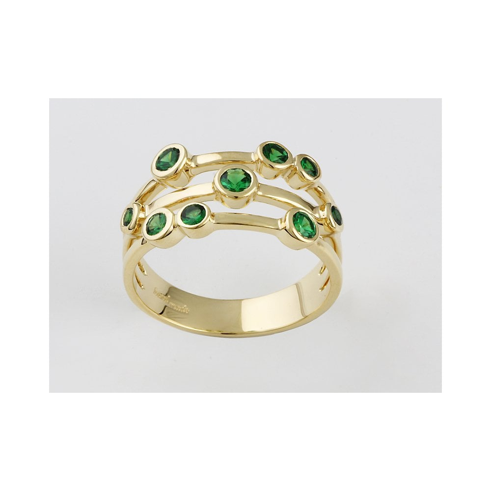 Albion 18ct Yellow Gold Tsavorite Bubble Ring 0 79ct