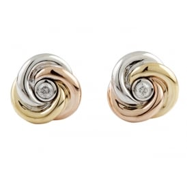 3e0bf1f3c86db 9ct Gold Albion Stud Earrings