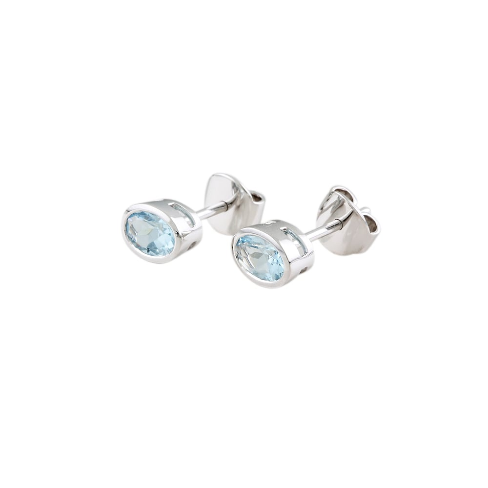 white aqua jewellery from image gemstone stud pear earrings gold marine aquamarine
