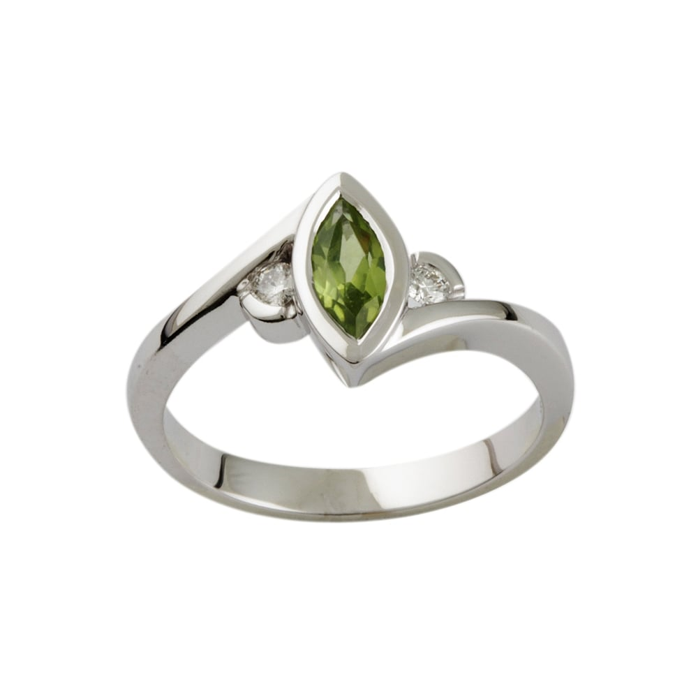 diamond ring vintage engagement peridot rings