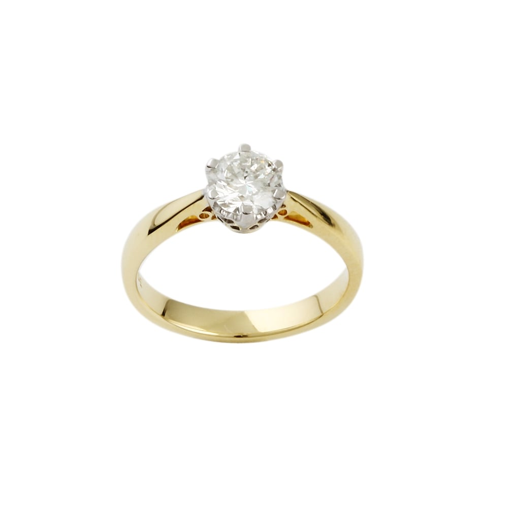 engagement wedding used solitaire ernest for sale diamond fresh jones ring rings sets of