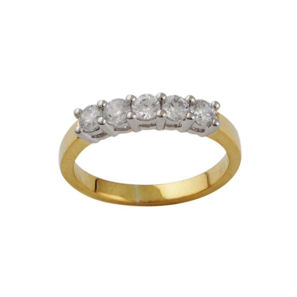 diamond ring albion stone image rings five yellow gold diamonds