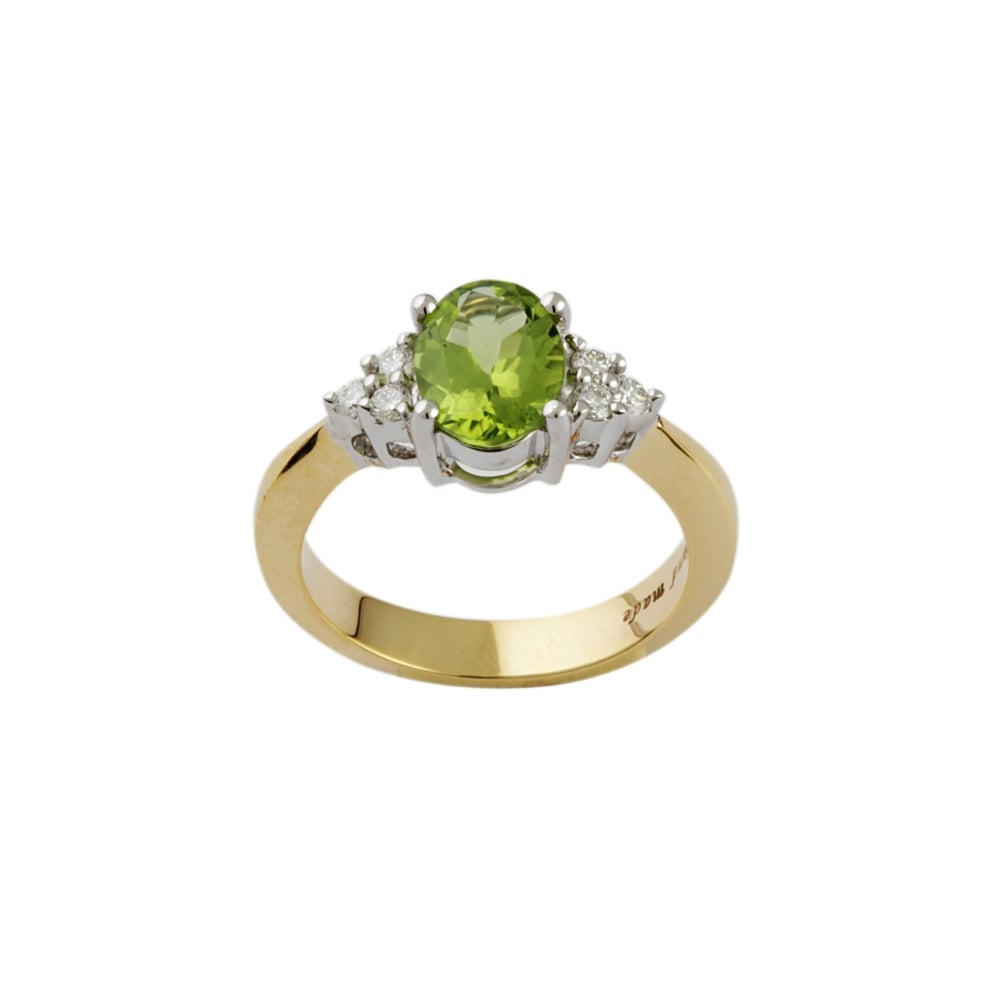 gold inc vintage treasurly products by diamond rings ye yellow wedding cut natural ring engagement peridot floral dima oval in