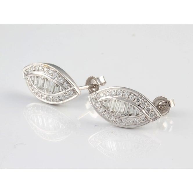 Bespoke 18ct White Gold Diamond Earrings 96pts
