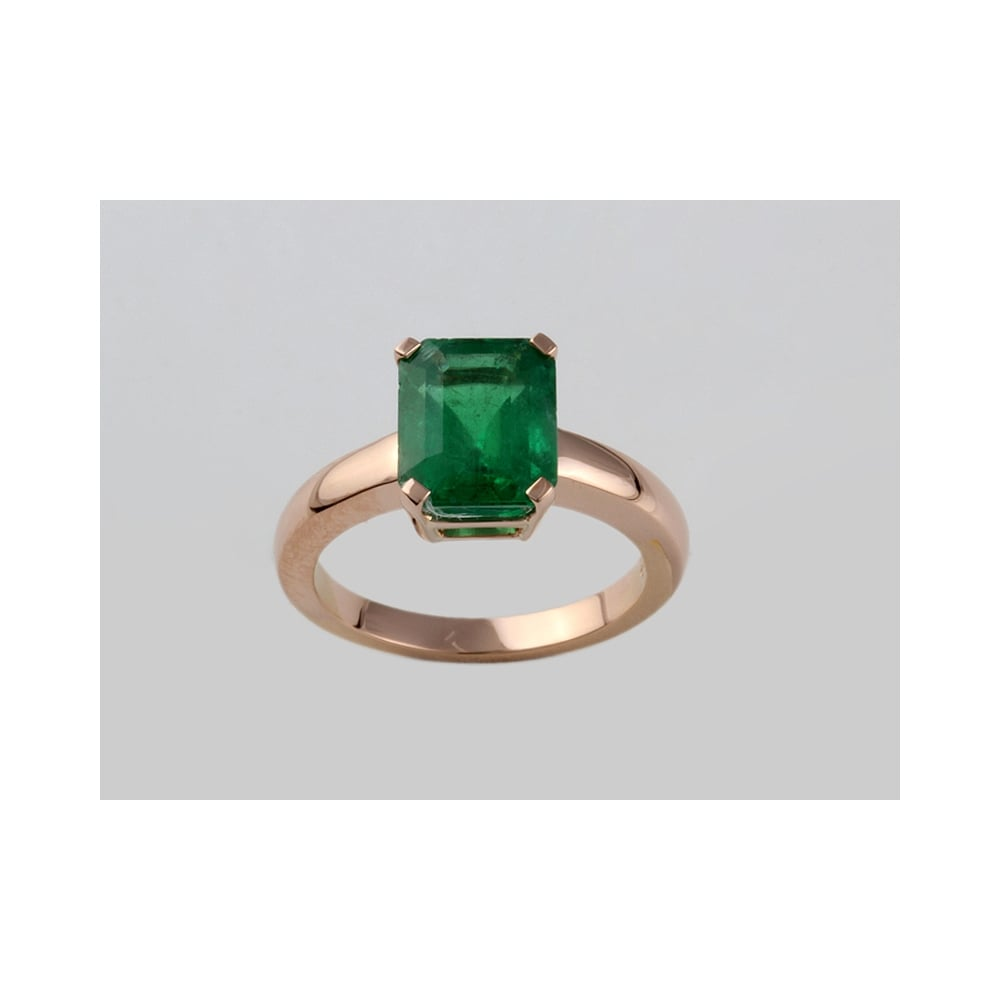 Albion handmade 18ct rose gold emerald ring 301ct sale from handmade 18ct rose gold emerald ring 301ct aloadofball Image collections
