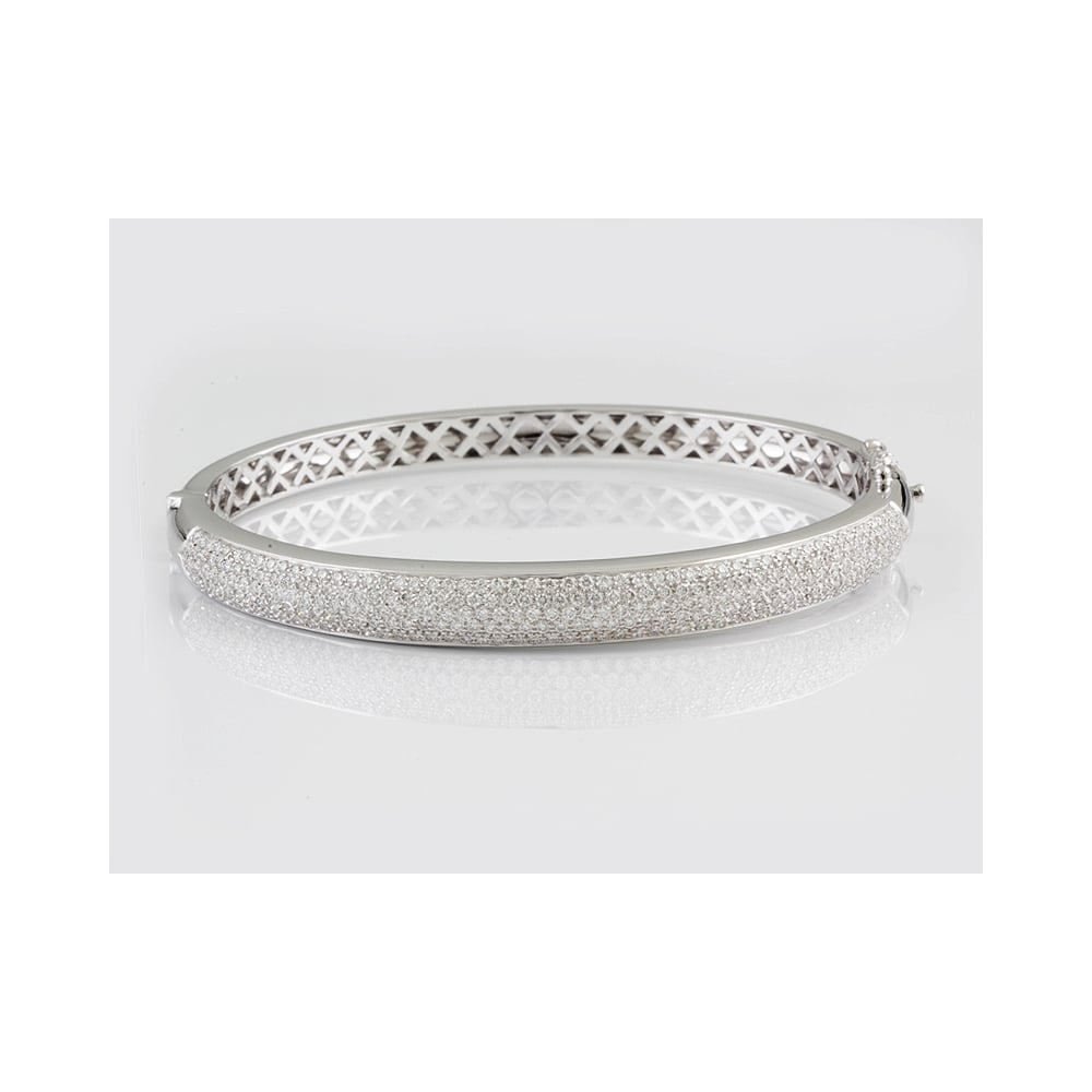 image diamond amp white jewellery gold bangle bangles baguette round