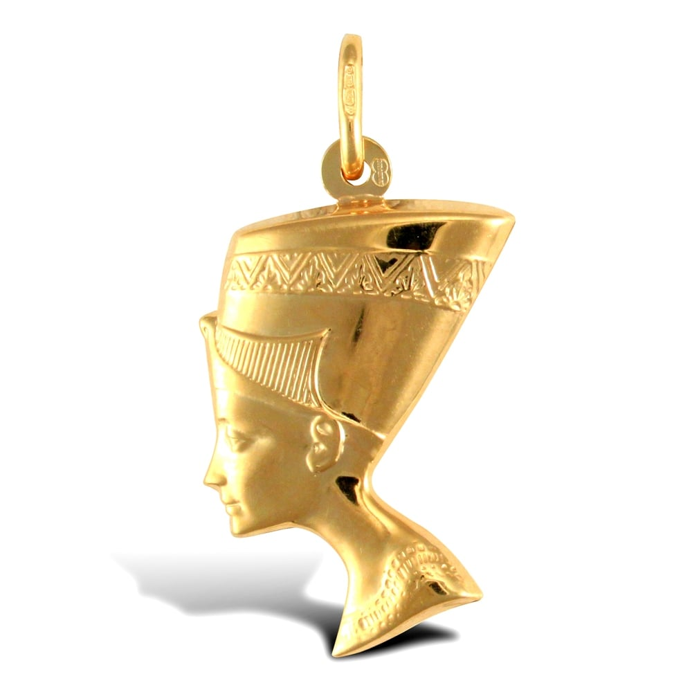 9ct yellow gold nefertiti head egyptian charm pendant ladies 9ct yellow gold nefertiti head egyptian charm pendant mozeypictures