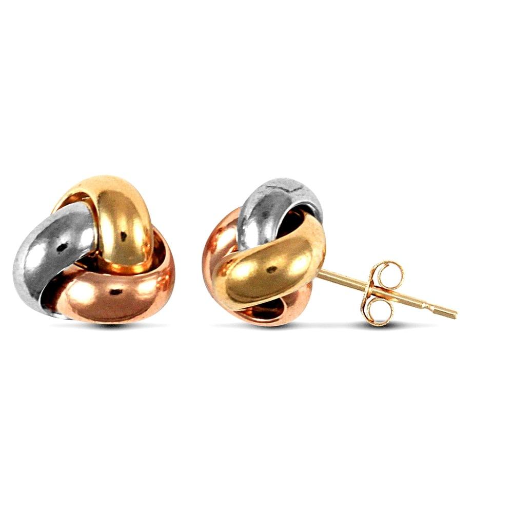 9ct Rose Gold Ladies Stud Earrings - 9mm*9mm wqNFus