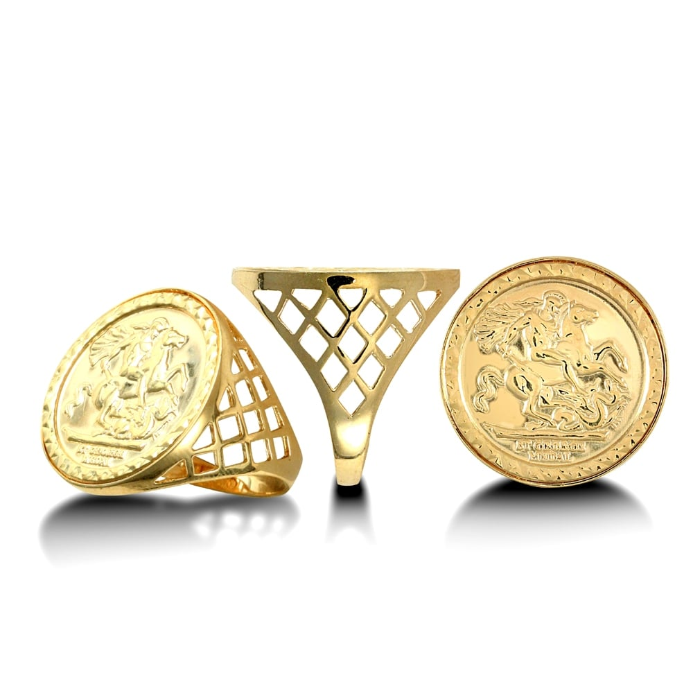 image sovereign ramsdens ring george men gold jewellery mens all half yellow rings