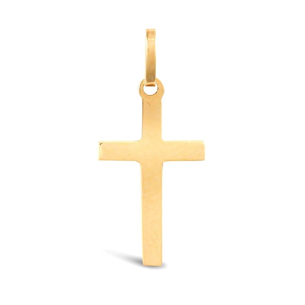 9ct yellow gold plain cross pendant solid 9ct yellow gold plain cross pendant aloadofball Image collections