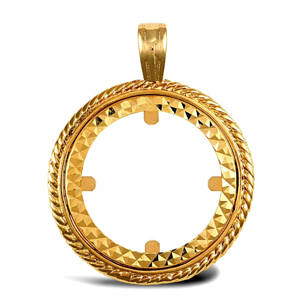 9ct yellow gold rope edge frame full sovereign coin mount pendant solid 9ct yellow gold rope edge frame full sovereign coin mount pendant aloadofball Images
