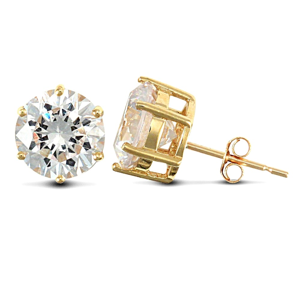 9ct Yellow Gold Real Sapphire 3mm Square Claw Set Stud Earring NkeOyZd